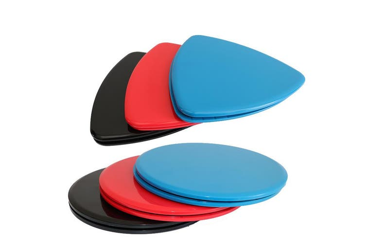 Core Sliders Gliding Discs Exercise Gym Fitness Foam Circle Pad Pair Black