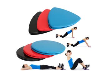 Core Sliders Gliding Discs Exercise Gym Fitness Foam Triangle Round Pad Pair