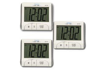 3X Digital Lcd Magnetic Clock Count Down Timer 60Min Alarm Kitchen Sport Dc101