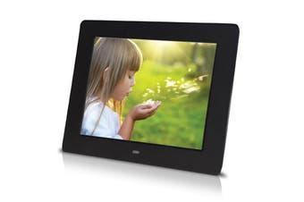"7"" Digital Photo Frame Multimedia Player Usb Card Reader Jpeg Mp3 Avi Black"