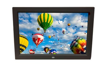 "10"" Digital Photo Frame Multimedia Player Usb Card Reader Jpeg Mp3 Avi Black"