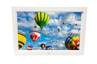 "10"" Digital Photo Frame Multimedia Player Usb Card Reader Jpeg Mp3 Avi White"