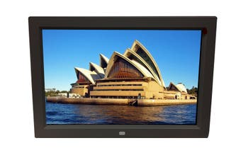 "12"" Digital Photo Frame Multimedia Player Usb Card Reader Jpeg Mp3 Avi Black"