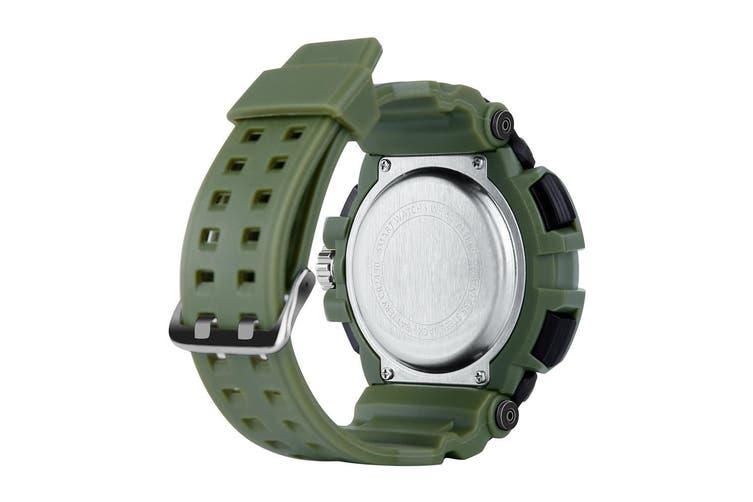 "Bluetooth V4.0 Smart Watch 1.1"" Lcd Sports Tracker Ip68 Remote Camera - Green"