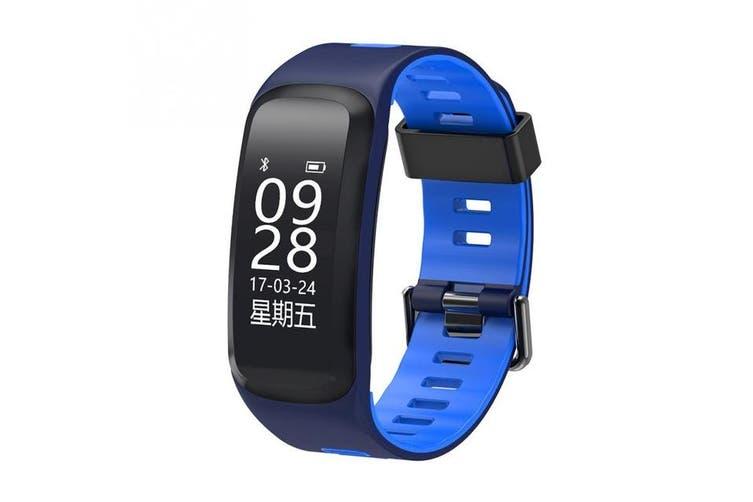 "Bluetooth V4.0 Smart Watch Heart Rate Blood Oxygen Gps Ip68 0.96"" Oled - Blue"