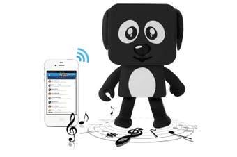 Bluetooth V4.1 Dancing Robot Dog Speaker Portable Rechargeable - Black