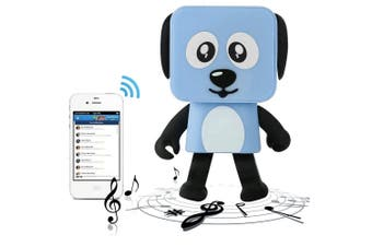 Bluetooth V4.1 Dancing Robot Dog Speaker Portable Rechargeable - Blue