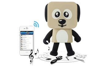 Bluetooth V4.1 Dancing Robot Dog Speaker Portable Rechargeable - Khaki