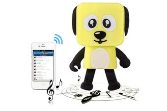 Bluetooth V4.1 Dancing Robot Dog Speaker Portable Rechargeable - Yellow