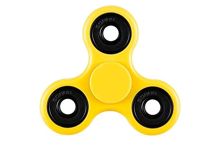 3D Hand Spinner Fidget Toy Stress Reliever Fast Bearing Gear Spin Abs Black