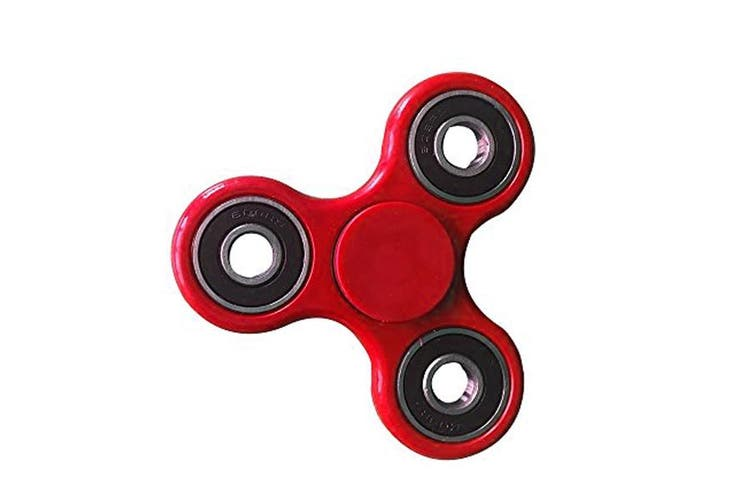 4Pcs 3D Hand Spinner Fidget Toy Stress Reliever Fast Bearing Gear Spin Abs Red 4X