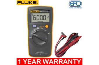 Fluke 600V Cat Iii Handheld Digital Multimeter + Test Probes Large Lcd 101
