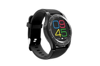 Bluetooth V4.0 Smart Watch Touch Lcd Rechargeable Heart Rate Monitor Black