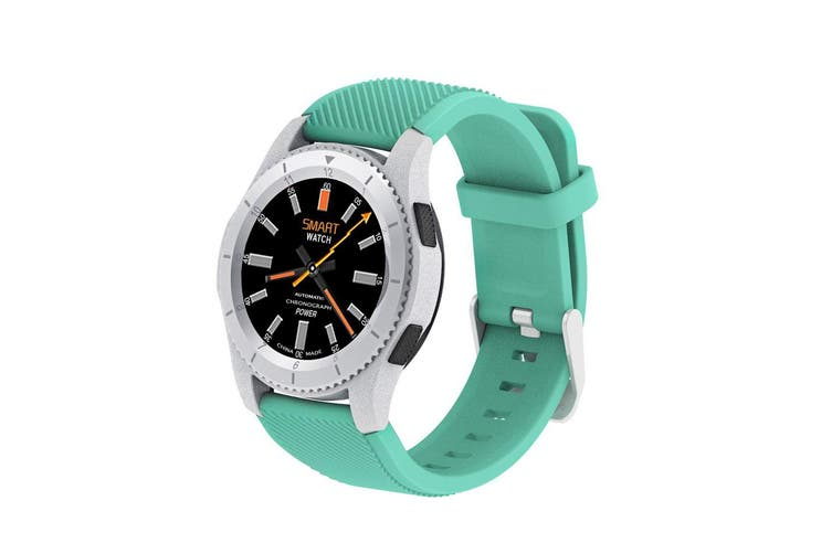 Bluetooth V4.0 Touch Lcd Smart Watch Rechargeable Heart Rate Monitor Aqua
