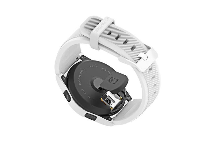 Bluetooth V4.0 Smart Watch Touch Lcd Rechargeable Heart Rate Monitor White
