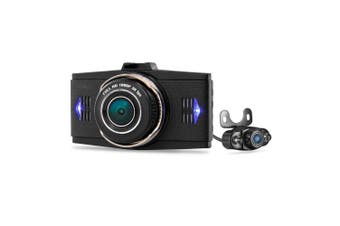"""Hd 1296P Dual Car Dvr Cam Front Rear Record 3"""" Lcd Wide Lens G9Wb"""