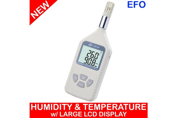 Digital Humidity Temperature Meter Metre Large Lcd Display Handheld °/°F Temp