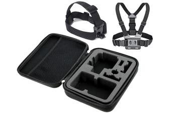 Protective Case Travel Bag For Gopro + Head Mount Chest Belt Hero 960 1 2 3 4 5