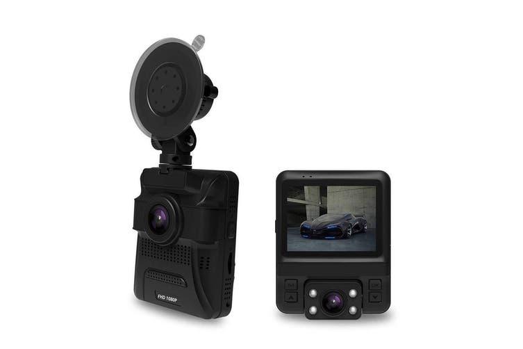 "4K Fhd In Car Dvr Crash Camera Recorder Built In Gps 2.4"" Ips Lcd Gs65 Dual"
