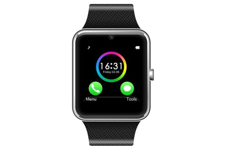 """Bluetooth V3.0 Smart Watch 1.5"""" Tft Lcd Rechargeable Antilost Call - Black"""