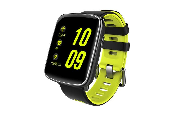 """Bluetooth V4.0 Smart Watch 1.54"""" 2.5D Lcd Heart Rate Blood Pressure Ip68 Green"""