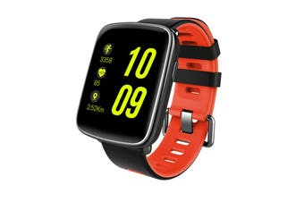 """Bluetooth V4.0 Smart Watch 1.54"""" 2.5D Lcd Heart Rate Blood Pressure Ip68 Red"""