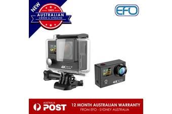 H3 Waterproof Dual Lcd Screen Uhd 4K Wifi Hdmi Sport Action Pro Camera Black