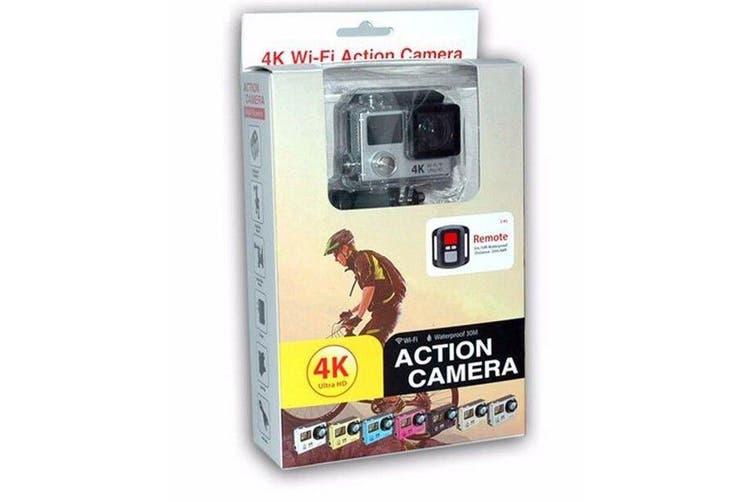H3 Waterproof Dual Lcd Screen Uhd 4K Wifi Hdmi Sport Action Pro Camera Blue