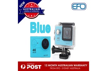 Hot H9 Wifi Sport Action Camera Dv 4K Ultra Hd Spca6350 Hdmi 2 Inch Lcd Blue