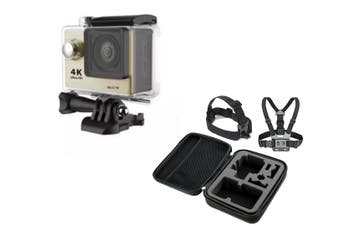"4K Ultra Hd Sports Camera 30M Waterproof 2"" Lcd H9 Action Camera + Case - Gold"