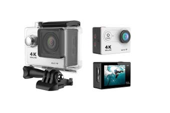 "4K Ultra Hd Sports Camera 30M Waterproof 2"" Lcd H9 Action Camera - Silver"