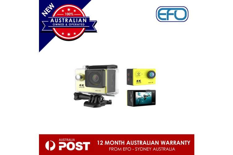 Cool Wifi Sport Action Camera Dv 4K Ultra Hd Spca6350 Hdmi 2 Inch Lcd H9 Yellow