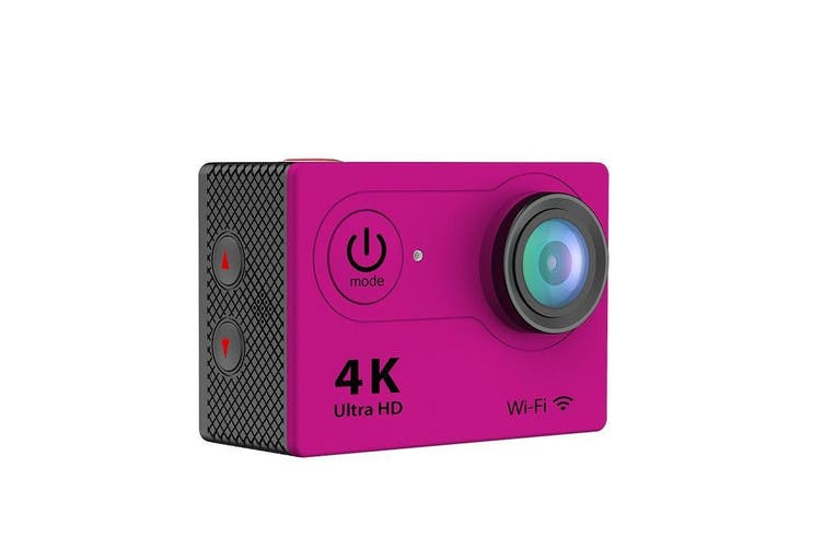 Hot H9 Wifi Sport Action Camera Dv 4K Ultra Hd Spca6350 Hdmi 2 Inch Lcd Pink