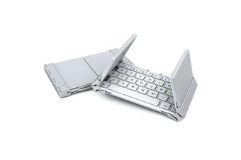 Foldable Bluetooth Keyboard V3.0 Aluminum Alloy For Iphone Android Tablet Pc White
