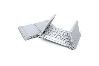 Bluetooth Keyboard V3.0 Foldable Aluminum Alloy Iphone Android Tablet Pc - White