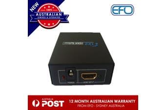Hdmi 1 To 2F Splitter 1080P Hd Box Powered Distribution Black