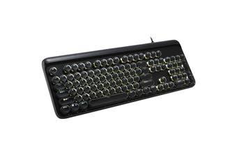 Mechanical Gaming Keyboard Linear Blue Switch Led Backlit 104 Key Windows - Black