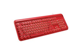 Mechanical Gaming Keyboard Linear Blue Switch Led Backlit 104 Key Windows - Red