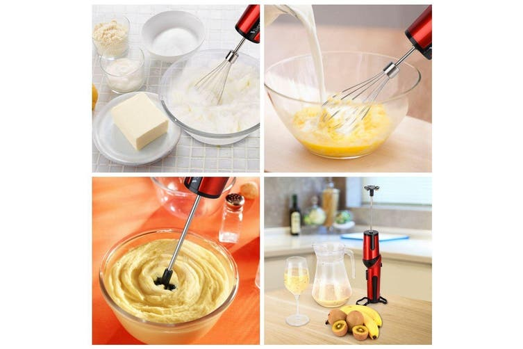 Cordless Rechargeable Hand Mixer Whisk Handheld Electric Egg Beater Blender Hs-3805A