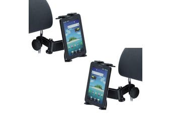 """2X 360° Rotating Universal Headrest Tablet Car Mount Holder 4.3-11.6"""" Twin Pack"""