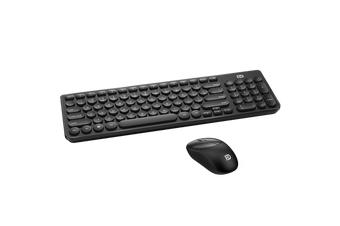 2.4Ghz Wireless Keyboard Mouse Combo Mac Windows Android 96 Key - Black