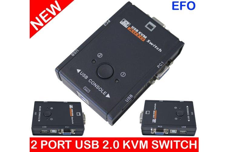 2 Port Usb Kvm Switch Vga Monitor Keyboard Mouse W/ 2 Pc Usb 2.0 Ps/2 Kvs-201U