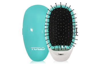 Ionic Anti Frizz Straightening Styling Hair Straight Brush Smooth Silky Hair Comb Blue