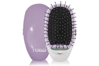 TODO Straightening Ionic Hair Brush Smooth Silky Hair Stainless Steel Lavender