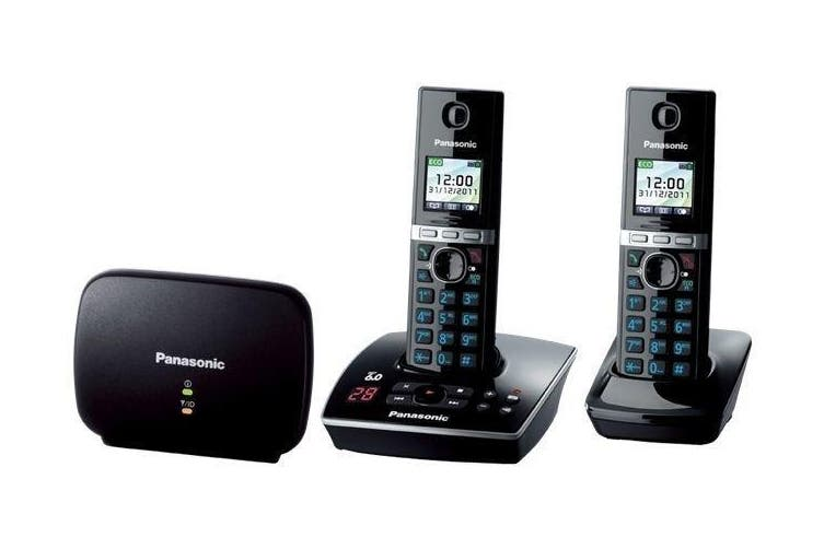 Panasonic Dect 6.0 Twin Pack W/ Dect Repeater + Answer Machine Kx-Tg8032Alb