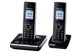 Panasonic Dect Twin Handset W/ Power Failure Talk + Baby Monitor Kx-Tg8562