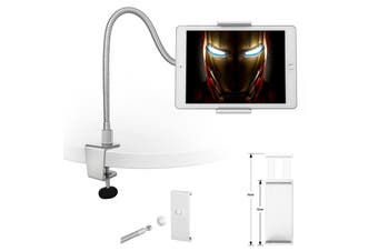 "360° Rotating 4.8 - 10""  Tablet Pc Phone Mount Holder Durable Metal Gooseneck"