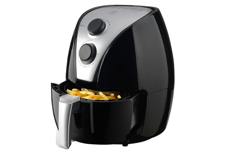 2.5L 1500W Air Fryer Convection Oven Fan Forced Multi Function Cooker Analog - Black
