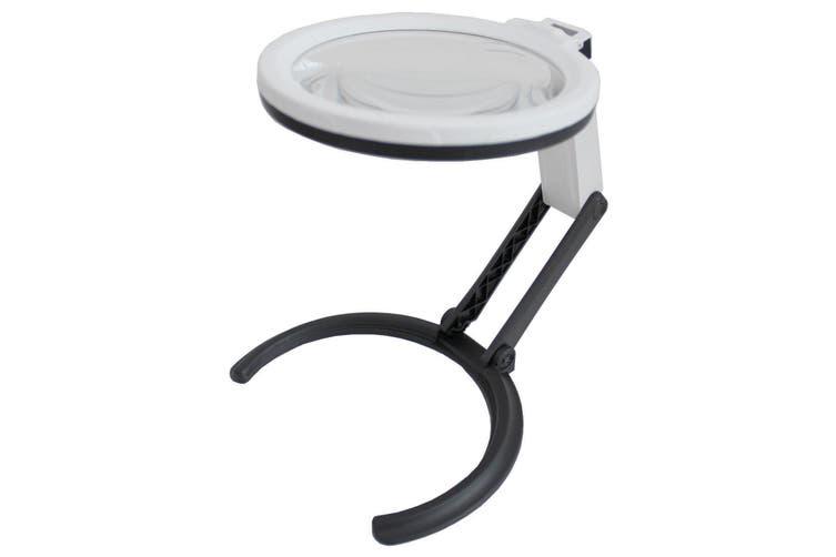 10 Led Foldable Magnifier Glass Magnification Led Lamp 1.8X138Mm + 5X25Mm Lens