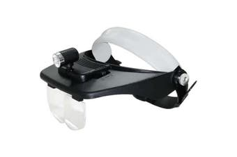 Led Headlamp Magnifying Glass Magnifier 1.2X 1.8X 2.5X 3.5X Mg81001-C
